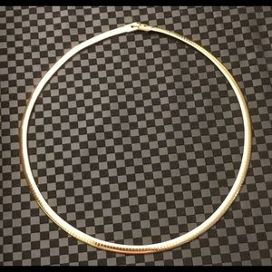 """Jewelry - 14KYGP 4mm 18"""" Omega Chain Choker Necklace"""